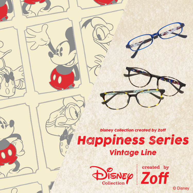 DISNEY Collection(ディズニー・コレクション) created by Zoff - Happiness Series Vintage Line