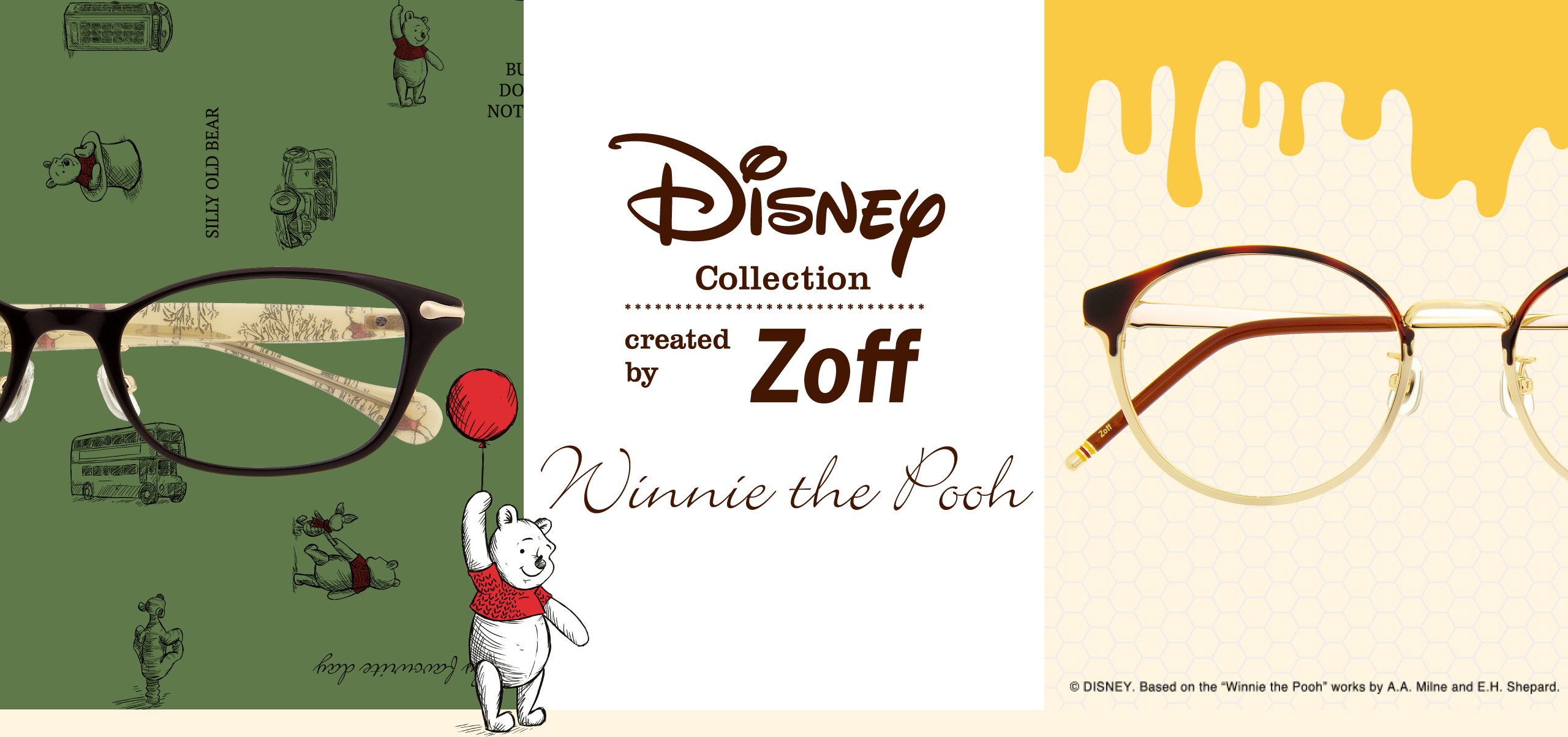 "DISNEY Collection created by Zoff ©DISNEY. Based on the ""Winnie the Poo"" works by A.A. Milne and E.H. Shepard."